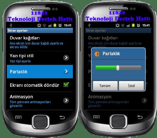 Bu Sayfada; Android ekran parlaklığı, Android ekran zaman aşımı, Android ekran ve Android kalibrasyon ayarları vardır.