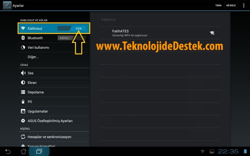 Android ICS Tablet IP ve DNS Ayarlari 01