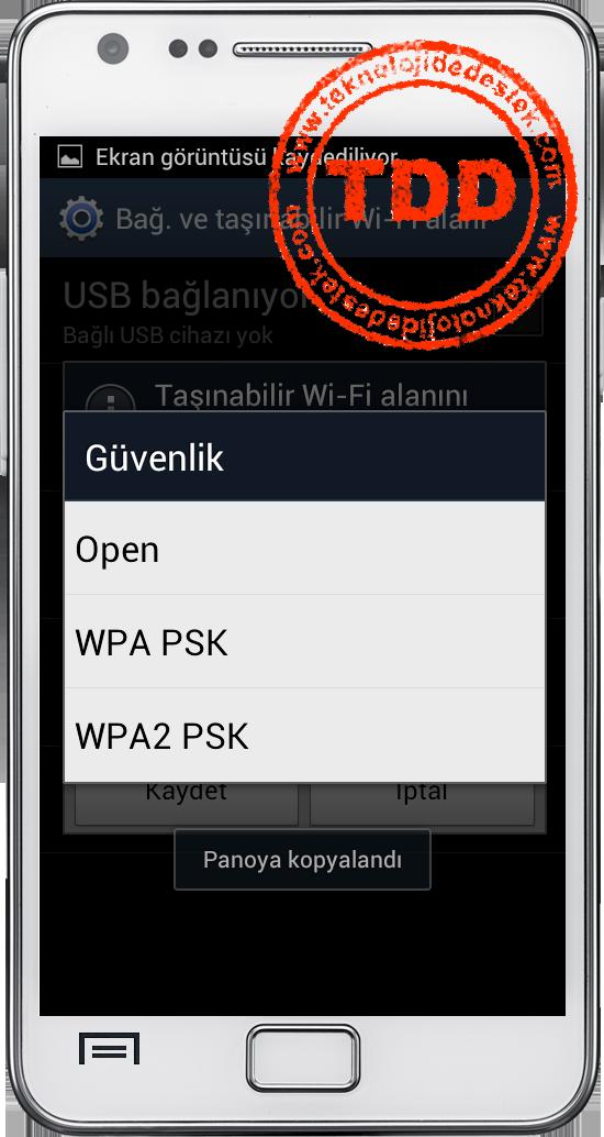 HotSpot, Android, Taşınabilir Wi-Fi Alanı, HotSpot Açma, HotSpot Kapatma,