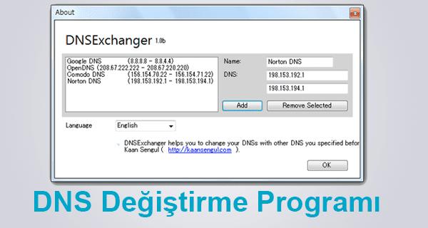 195 DNS, 208 DNS, Çalışan DNS, DNS Değiştirme, DNS değiştirme Programı,