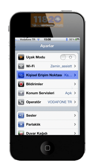 how to find hotspot on iphone 4