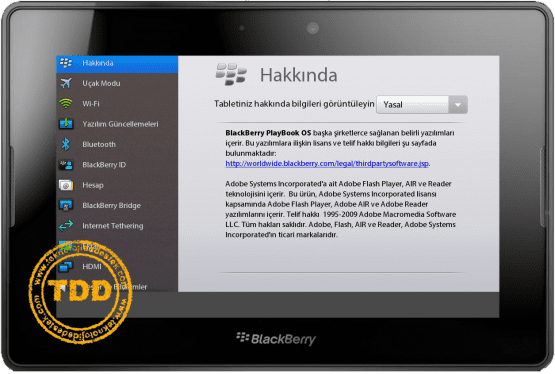 BlackBerry, PlayBook, Tablet, TTNeT PlayBook,