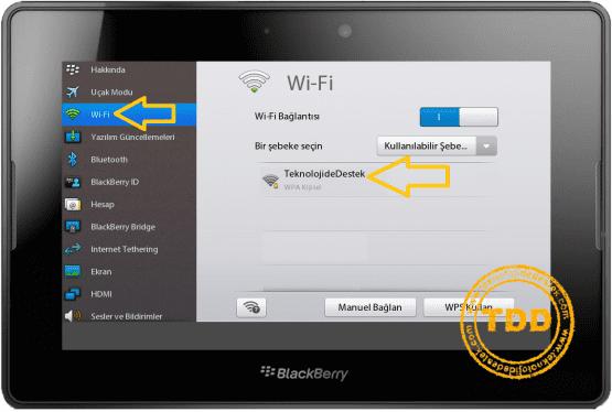 PlayBook HotSpot, PlayBook HotSpot Ayarları, PlayBook HotSpot İnternet Bağlantı Sorunu, HotSpot, BlackBerry,