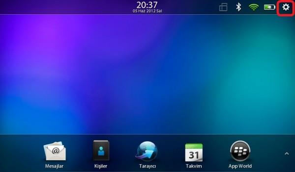 Playbook Dil Değiştirme, Blackberry, Playbook, Dil Değiştirme,
