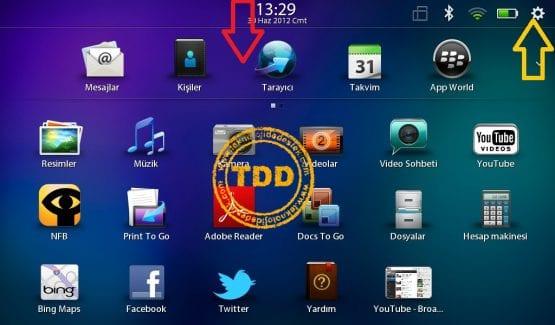 PlayBook DNS Ayarları, PlayBook IP Ayarları, BlackBerry, PlayBook, IP ve DNS Ayarları,