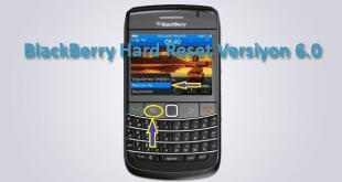 BlackBerry Hard Reset Versiyon 6