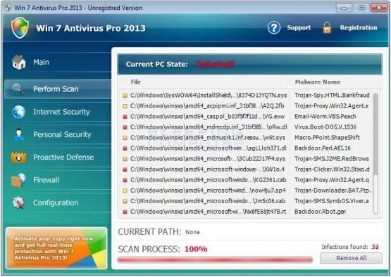 Virüs Temizleme, Win 7 Antivirüs Pro 2013 Nedir,Win 7 Antivirüs Pro 2013 Nasıl Kaldırılır, Bilgisayar Virüs Temizleme,