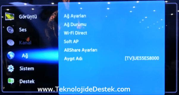 Smart TV Destek,Samsung Smart TV Kablosuz Bağlantı Ayarları,Smart TV Kablosuz Bağlantı Ayarları, Smart TV DNS Ayarları, Smart TV IP Ayarları,