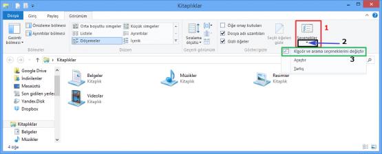 Windows 8 Dosya Uzantılarını ve Gizli Dosyaları Görmek 04
