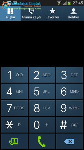 Android Numara Gizleme Gosterme (2)