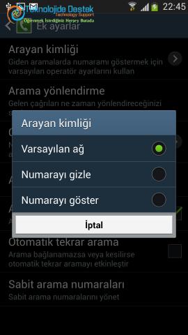 Android Numara Gizleme Gosterme (6)