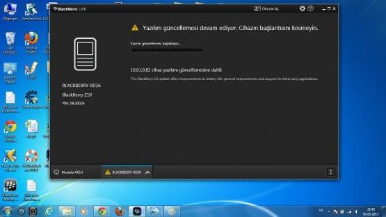 Blackberry Z10 Yazılım Güncelleme