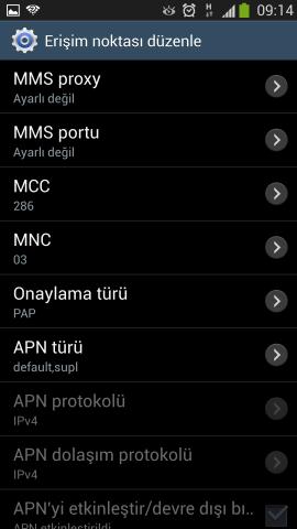 Samsung i9500 Galaxy S4 Internet Ayarlari Turkcell Vodafone Avea (10)
