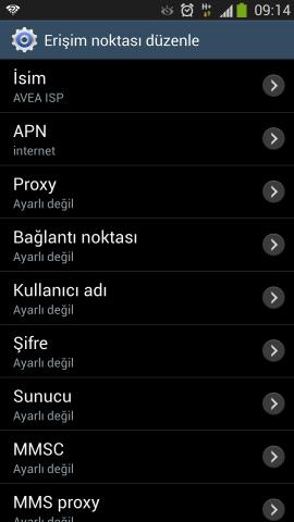 Samsung i9500 Galaxy S4 Internet Ayarlari Turkcell Vodafone Avea (9)
