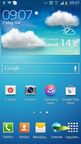 Samsung i9500 Galaxy S4 Mail Ekleme (1)
