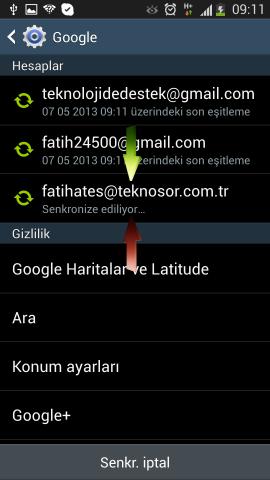 Samsung i9500 Galaxy S4 Mail Ekleme (12)