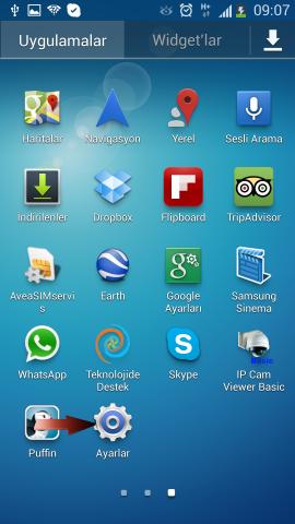 Samsung i9500 Galaxy S4 Mail Ekleme (2)