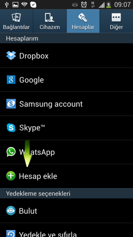 Samsung i9500 Galaxy S4 Mail Ekleme (4)