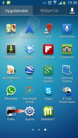 Android 4.2.2 Jelly Bean USB Hata Ayıklamayı Açmak