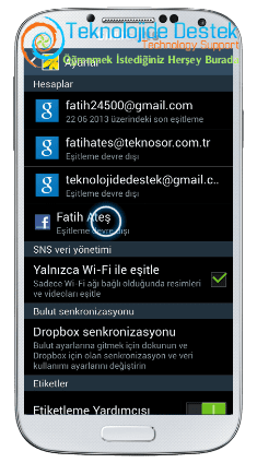 Android Telefonlarada Galeri Senkronizasyonu (5)