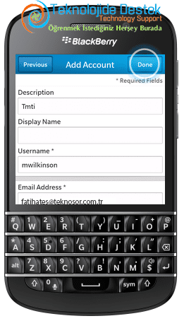 BlackBerry Q10 Exchange Mail Kurulumu (10)