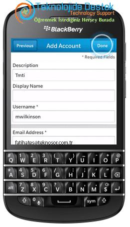 BlackBerry Q10 Exchange Mail Kurulumu (10)