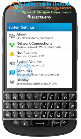 BlackBerry Q10 Exchange Mail Kurulumu (3)