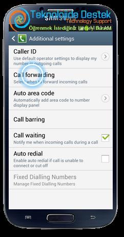 Samsung i9500 Galaxy S4 Android Cağri Yonlendirme (5)