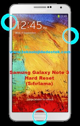 Samsıng Galaxy Note 3 Hard Reset