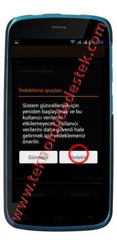 General Mobile Discovery Yazılım Güncelleme