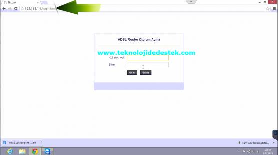Tp-Link TD864W Kablosuz Modem Kurulumu (1)