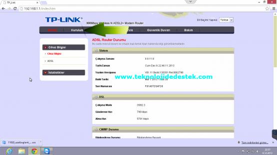 Tp-Link TD864W Kablosuz Modem Kurulumu (4)