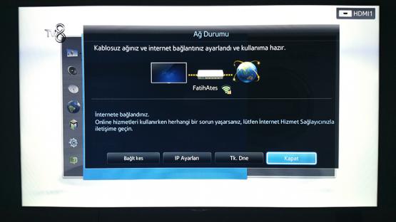 Smart TV Kablosuz Baglanti Ayarlari 11