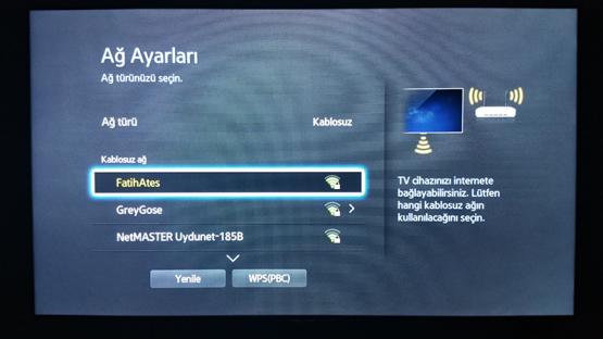 Smart TV Kablosuz Baglanti Ayarlari 5