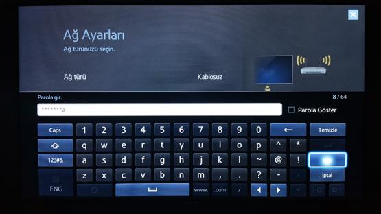 Smart TV Kablosuz Baglanti Ayarlari 7