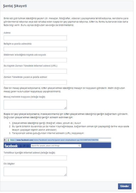 Facebook Santaj Sikayeti Nasil Yapilir 00