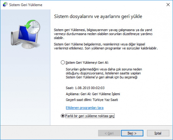 Windows 10 Sistem Geri Yukleme Nasil Yapilir 08