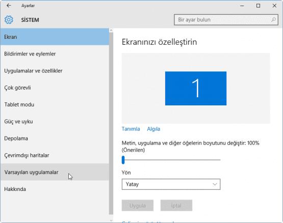 Windows 10 Varsayilan Programlar Nasil Degistirilir 04