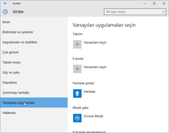 Windows 10 Varsayilan Programlar Nasil Degistirilir 05