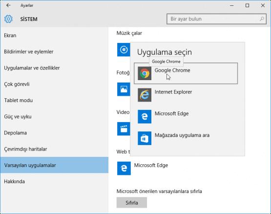 Windows 10 Varsayilan Programlar Nasil Degistirilir 06