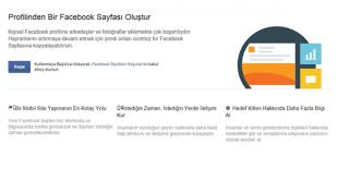 Kişisel Hesabımı Nasıl Facebook Sayfasına Dönüştürürüm, Facebook, Profil, Sayfa, Facebook Profilini Sayfa Yapmak, Facebook Kişisel Hesabı Sayfa Yapmak,