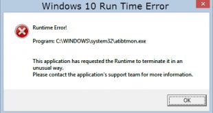 Run Time Error, Windows 10, Çalışma Zamanı Hatası, Windows 10 Hata, Windows 10 Run Time Çalışma Zamanı Hatası,
