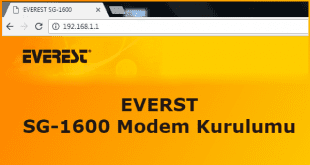 Everest SG 1600 Modem Kurulumu