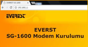 Everest SG 1600 Modem Kurulumu