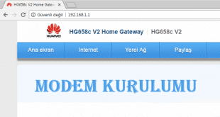 Huawei HG658C V2Modem Kurulumu 00