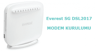 Everest SG DSL2017 Modem Kurulumu