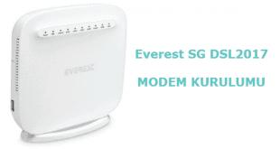 Everest SG DSL2017 Modem Kurulumu