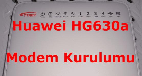 Huawei HG630a Modem Kurulumu Resimli Anlatım.