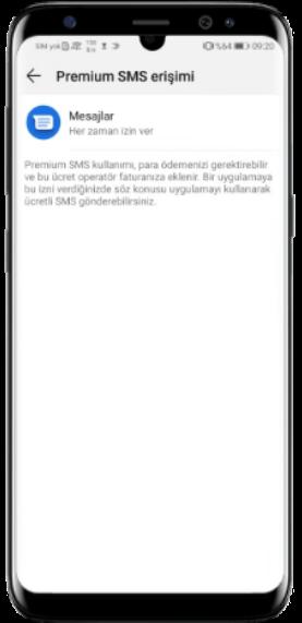 Android 9 Premium SMS Özelliğini Etkinleştirme Nasıl Yapılır