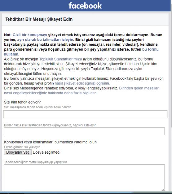 facebook tehdit mesajı, facebook'tan tehdit ediliyorum, facebook üzerinden tehdit etmenin cezası, facebook üzerinden tehdit suçu, facebook tehdit mesajları